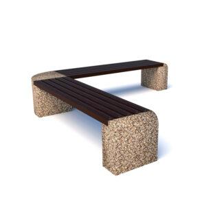 Купить скамейки бетонные Евро 1 Дабл