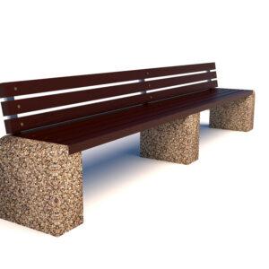 Купить скамейки бетонные Евро 1 Лайн