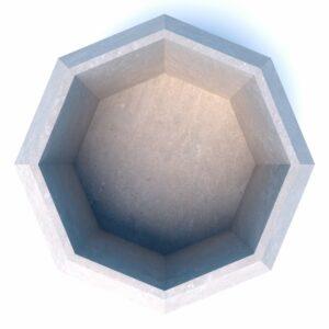 Бюджетные вазоны бетонные Бриллиант