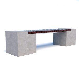 Бюджетные скамейки бетонные Евро 2