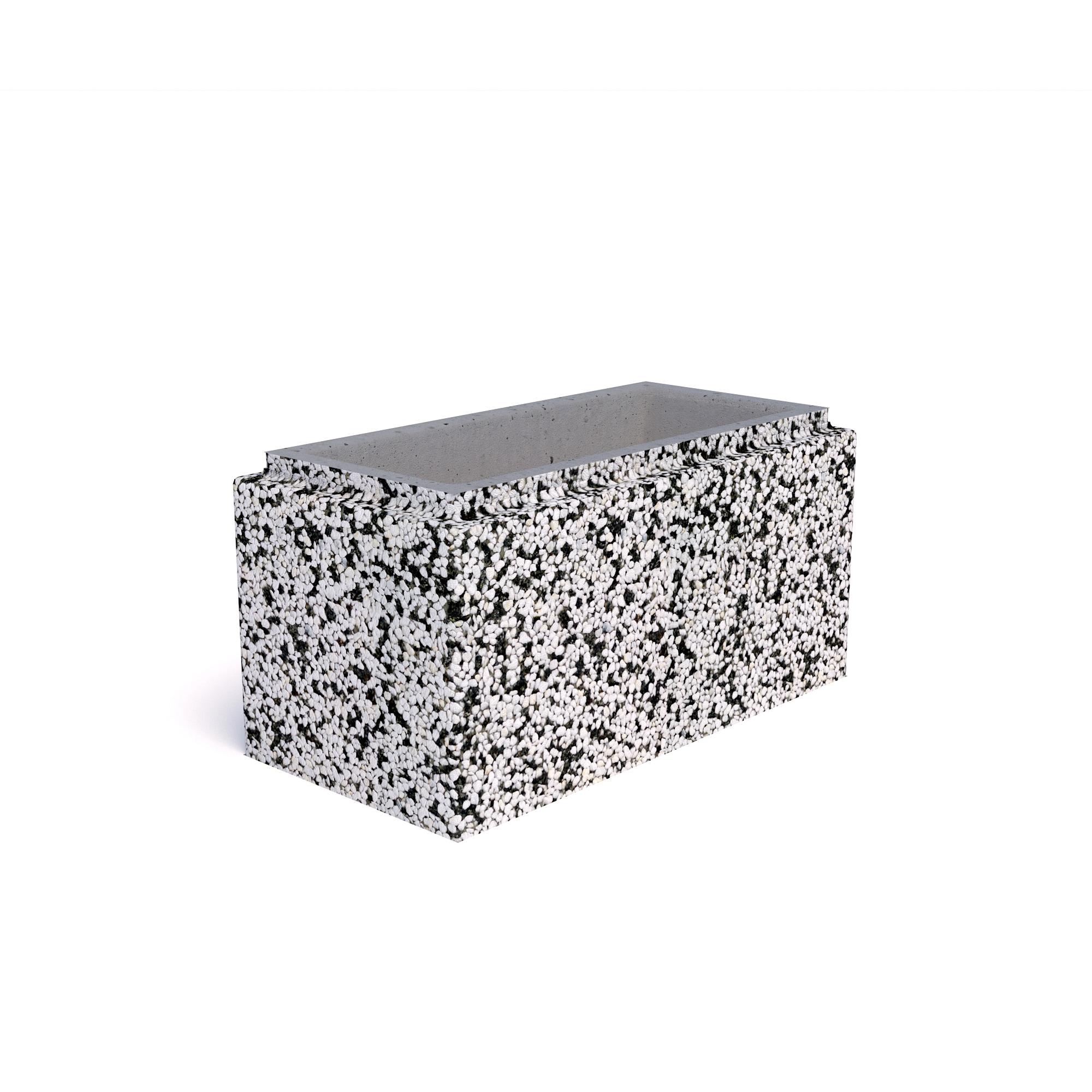 блок бетонный фундаментный полнотелый 200х400х400мм