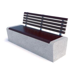 Скамейка Арбат бетон спинка 00005
