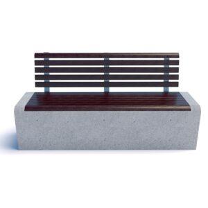 Скамейка Арбат бетон спинка 00008