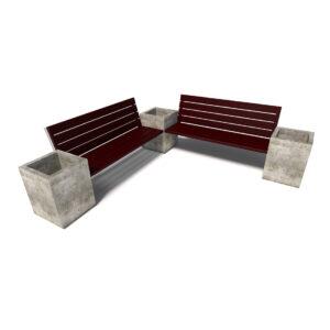 Бюджетный комбинированный уличный диван «Киль», 2 секции