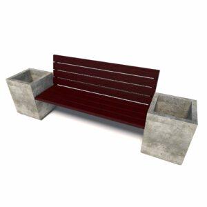 Бюджетный уличный диван «Киль», 1 секция