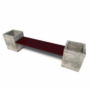 Бюджетный уличный диван «Киль», 1 секция, без спинок
