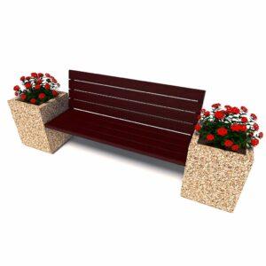 Уличный диван «Киль», 1 секция