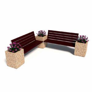 Комбинированный уличный диван «Киль», 2 секции