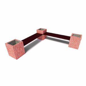 Комбинированный уличный диван «Киль», без спинок