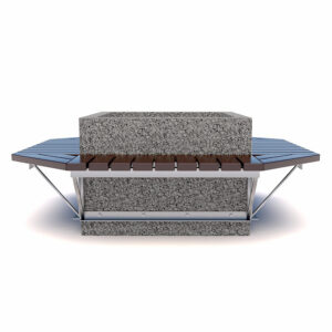 Квадратный вазон скамейка3
