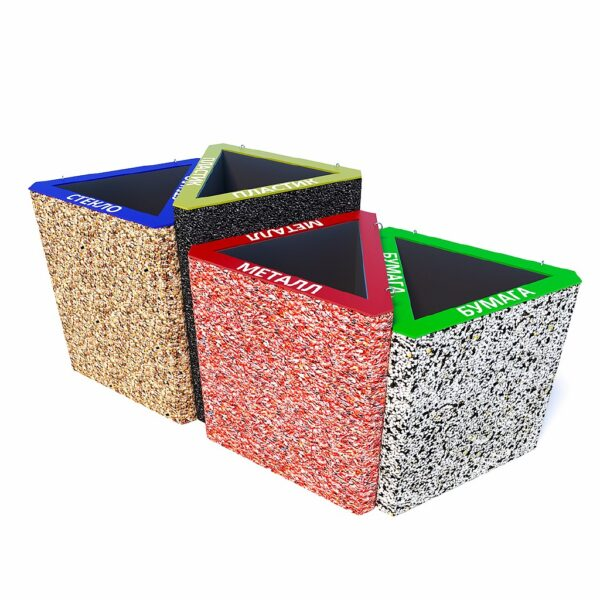 Бетонные урны для раздельного сбора мусора