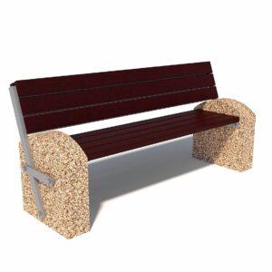 Купить скамейки с откидной спинкой, бетонные парковые