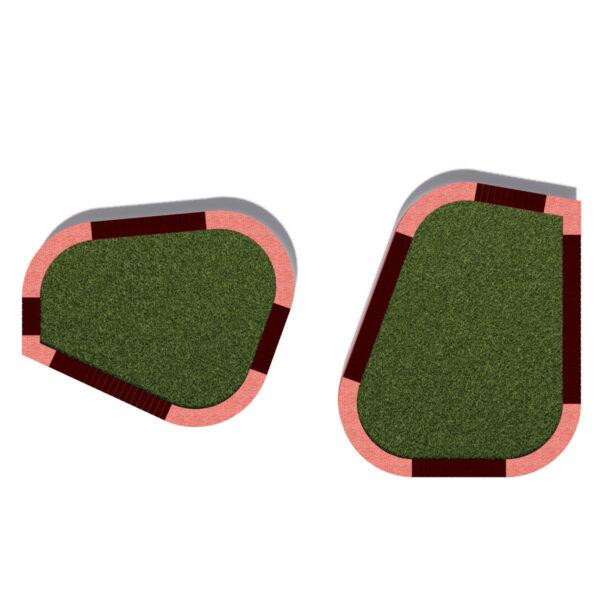 Двойная клумба-скамейка