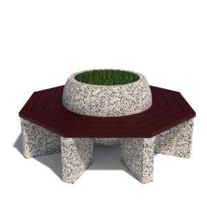 Вазон-скамейка Глобус