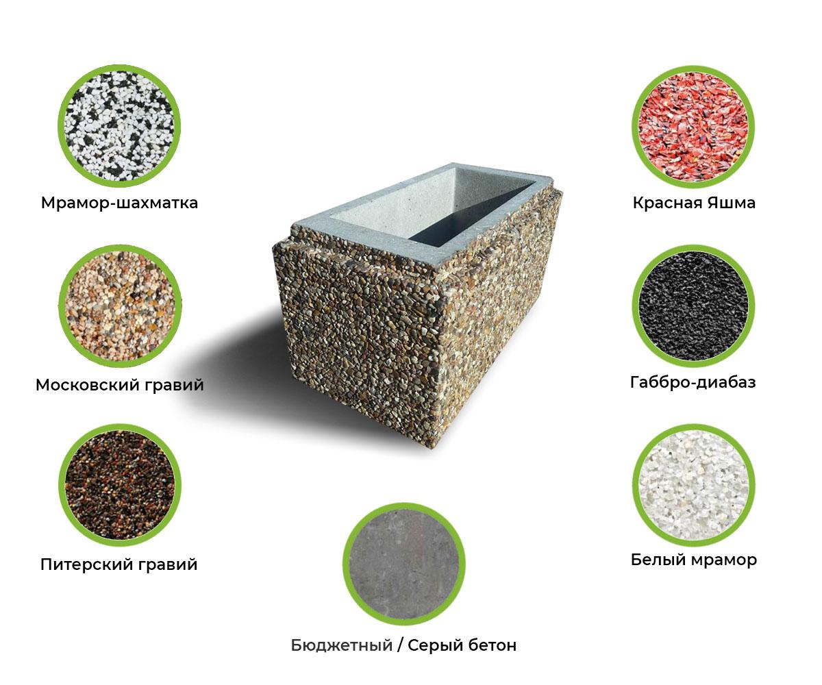 Варианты цветовых решений для бетонных блоков