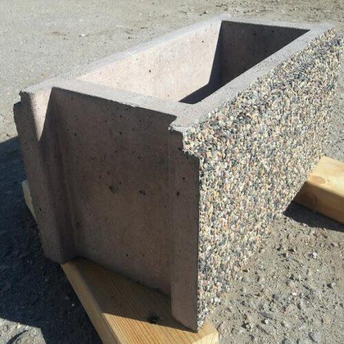 Заборные блоки из камня